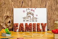 Декоративная картина со мхом Family.