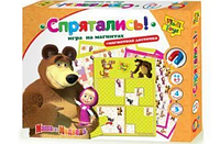 Игра на магнитах Маша и медведь Спрятались