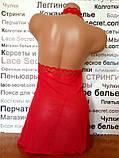 Ажурный пеньюар красный, фото 3
