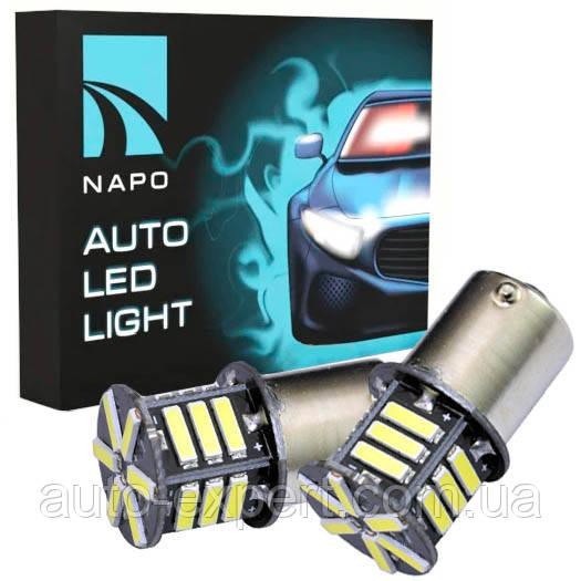 Светодиодные лампы LED P21W(BA15S)(21-SMD)(12V)(7014)(Белый)