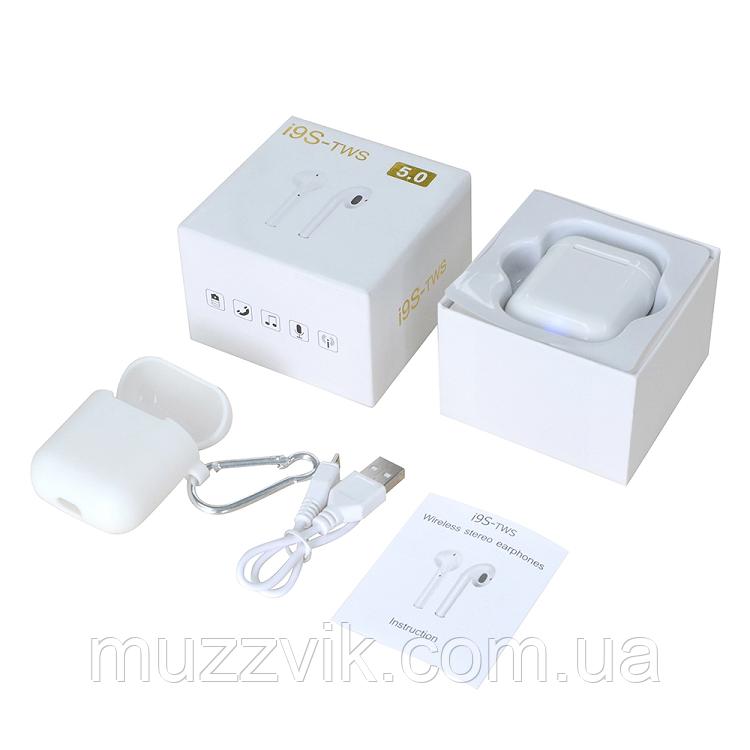 Sport наушники i9-mini TWS V5.0 безпровідні навушники AirPods Bluetoo