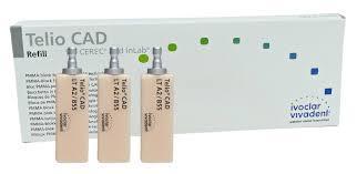 Telio CAD for CEREC/inLab LT размер В55  блок -3 шт,  Ivoclar Vivadent.