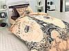 Постільна білизна First Choice Romantica Kahve Ranforce 200-220 см коричневий