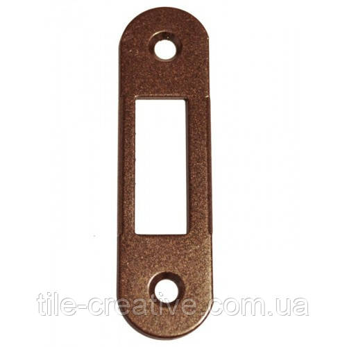 AGB ответная планка ровная под дверь с четвертью Mediana Evolution старая бронза B.01000.40.12