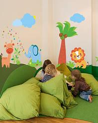 """Наклейки на стіну в дитячу кімнату і дитячий сад """"Під пальмою"""""""