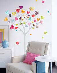 """Дитяча наклейка на шпалери """"Сердечка на дереві"""""""