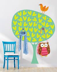 """Вінілова наклейка-вішалка для дитячої кімнати """"Сто сердець"""""""
