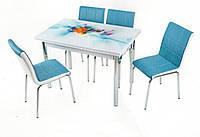 Комплект  Smart 176 стол обеденный раскладной + 4 стула, фото 1