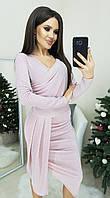 Платье розовое люрекс