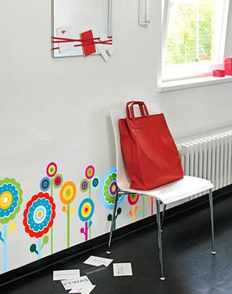 """Вінілова наклейка на стіну в дитячу кімнату """"Дивні квіти"""""""