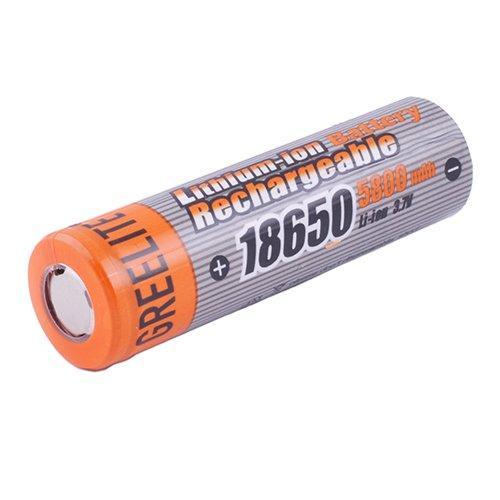 Аккумулятор 18650, Greelite, 5800mAh, плоский плюс
