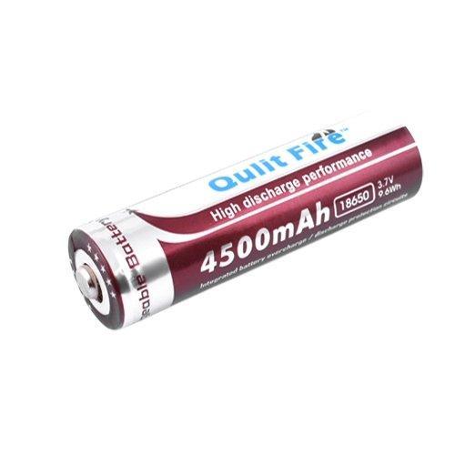 Акумулятор 18650, Qulit Fire, 4500mAh, коричневий