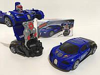 Машинка-трансформер ROBOT DEFORM YJ388-31, синяя