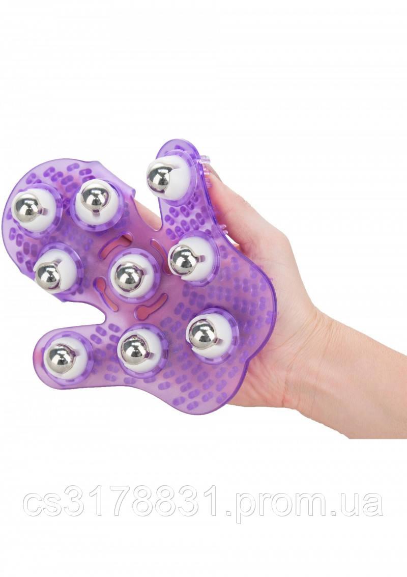 Simple & True Roller Balls Massager перчатка для массажа, пурпурный