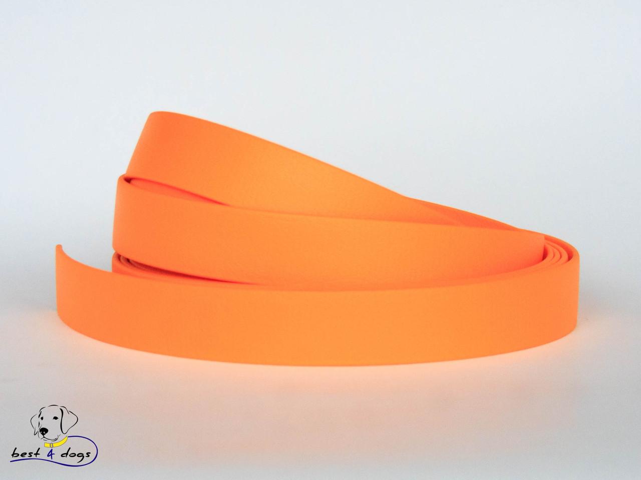 Поводок из биотана(Biothane) Оранжевый Пастель 19мм