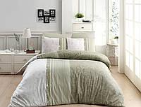Постельное белье First Choice Peitra Yesil Ranforce 200-220 см оливковый