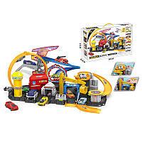 Детский игрушечный автотрек. Автомобильный трек парковка с машинками 41*8,5*60см