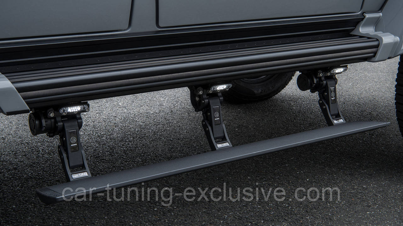BRABUS retractable running boards for Mercedes G-class