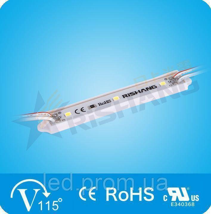 LED-модуль 3-2835-12V-IP65 33Lm 0.7W  yellow (M143TA)