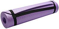 Коврик для занятий, каремат (MS 2129) Фиолетовый 7мм.