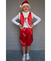 Детский новогодний костюм«Гномик» красный