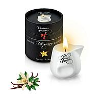 Массажная свеча с ароматом ванили Plaisirs Secrets Vanilla 80 мл (SO1844)