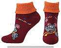 Шкарпетки оптом жіночі махрові з відворотом, фото 6