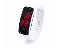Наручний LED 555 годинник браслет білі