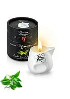 Массажная свеча с ароматом зеленого чая Plaisirs Secrets White Tea 80 мл (SO1858)