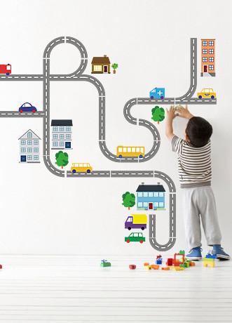 """Дитяча наклейка в кімнату хлопчика """"Машинки"""""""