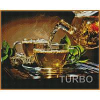 Картина из страз алмазная мозаика Babylon Традиции чаепития 40х50 см ST1134