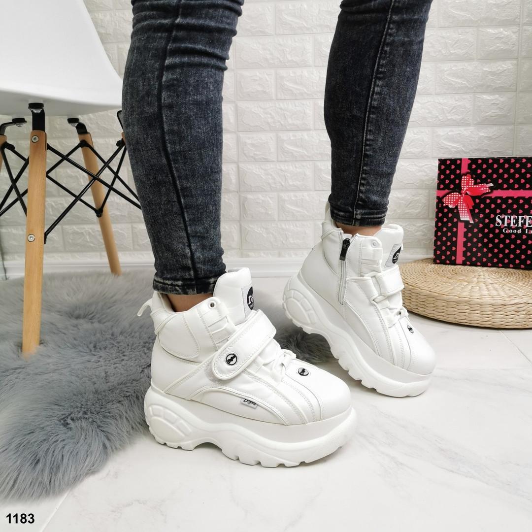 Женские зимние ботинки еко кожа