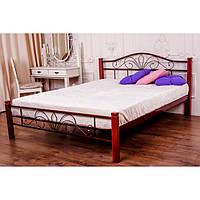 """Металеве двоспальне ліжко """"Лара Люкс Вуд"""" (8 кольорів)"""