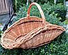 Плетений кошик з лози для дров