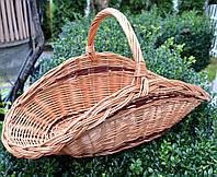 Плетений кошик з лози для дров, фото 1
