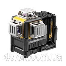 Лазер DeWALT DCE089LR, 3 луча (красный), 10.8 В, Li-Ion,±0.3 мм/м, адаптер батарей 4хАА, чемодан