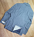Шикарный классический серый мужской костюм натуральная шерсть Tommy Hilfiger (Размер L)  Оригинал, фото 3