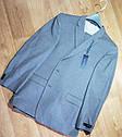 Шикарный классический серый мужской костюм натуральная шерсть Tommy Hilfiger (Размер L)  Оригинал, фото 2