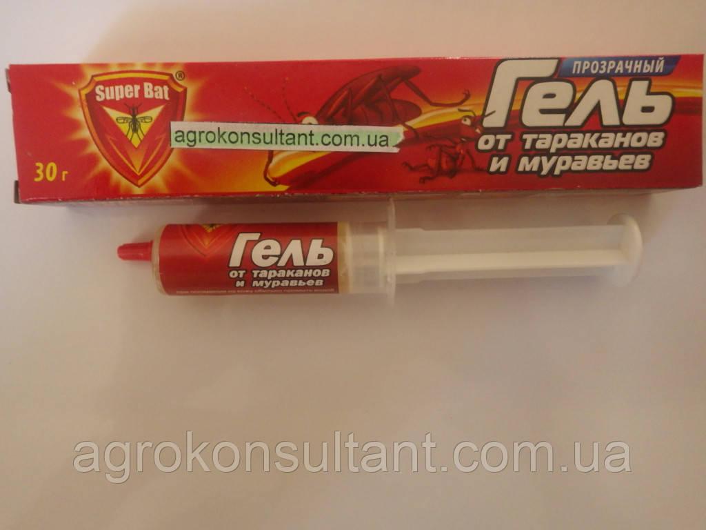 Супербат, 30 г - гель шприц від тарганів і мурашок