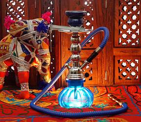 Кальян зі скляною колбою синій
