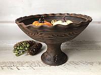 Фруктовница ручной работы из красной глины, фото 1