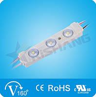 LED-модуль 3-2835-12V-IP65 65Lm 0.7W 7000K (M983TA)