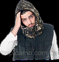 Защитный капюшон с воротником лесной камуфляж MOF (Балаклава)