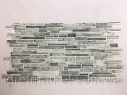 Панели ПВХ Регул камень Пластушка черно-белая