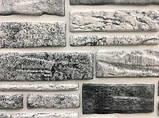 Панели ПВХ Регул камень Пластушка черно-белая, фото 3