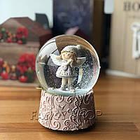 """Сніжна куля """"Дівчинка янголятко"""", рожева, велика, 14,5 см, Снежный шар """"Девочка ангелок"""" 559-338"""