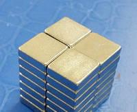 Магнит неодимовый. Прямоугольник 9,6x9,6x2,6 мм Сцепление ≈ 1,4 кг 30 шт.