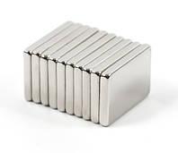 Магнит неодимовый. Прямоугольник 14x10x1,5 мм Сцепление ≈ 1,8 кг 20 шт.