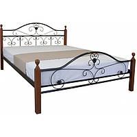 """Металеве двоспальне ліжко """"Патриція Вуд"""" (8 кольорів)"""