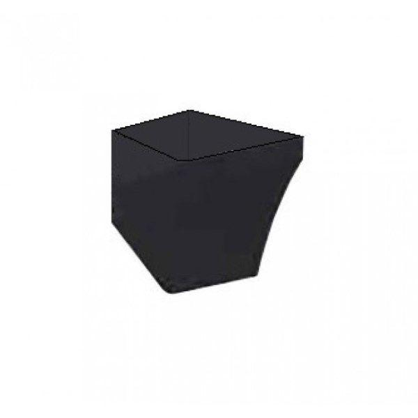 Напівп'єдестал для раковини Idevit Vega 2803-0000-07 чорний
